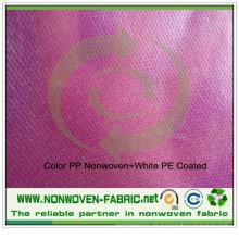 Farbe PP Spunbond Vliesstoff + weißer PE-Folie