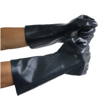 NMSAFETY Nitrile fully dipped coated interlock jersey gauntlet working glove