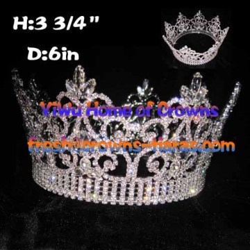 Unique Crystal Full Round Queen Crowns