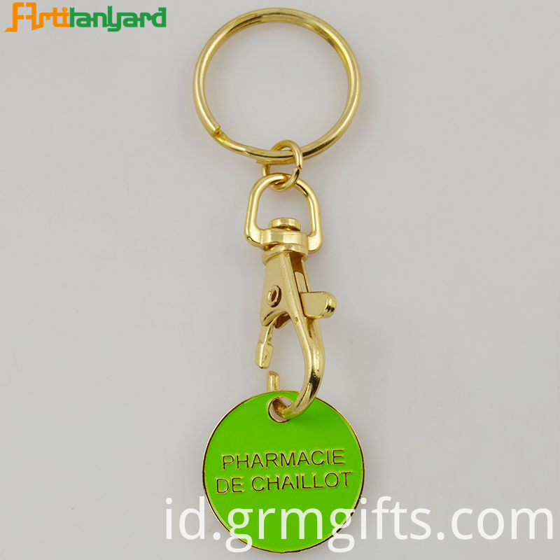 Trolley Keychain With Embossed Logo