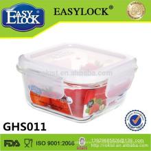 Essensbehälter, 320ml quadratischer Glasnahrungsmittelspeicherbehälterkasten