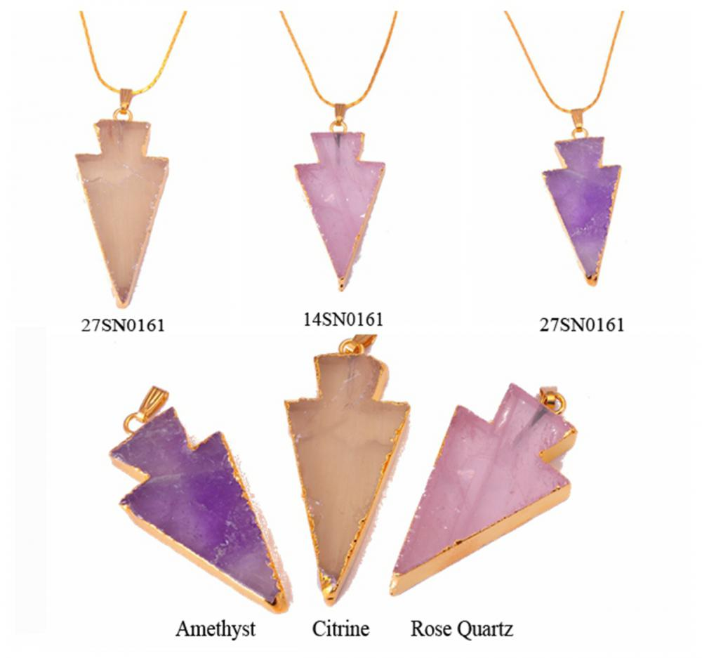Arrow Crystal Pendant & Necklace