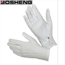 Guante de tela de algodón blanco con refuerzo
