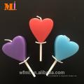 Cliente personalizado color clasificado disponible Corazón vela cumpleaños para la torta