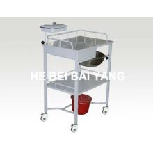 B-49 Venda quente de trolley de tratamento com gavetas de plástico