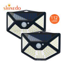 Outdoor Bright Custom Corner Wall Light Garden Solar Power Pir Motion Sensor Lighting