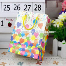 Colorful cheap shopping kraft paper bag with tissue handle