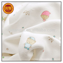 Pano de bebê crianças vestuário impresso malha tecido jersey tecido