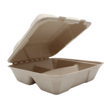 Cheaper Sugarcane Bagasse Take Out Plate Box For Fast Food