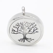 Original fabricar a árvore de elevador óleo difusor medalhão pingente para colar de jóias de moda