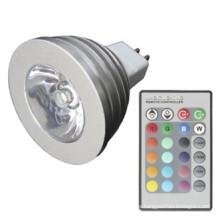 Sincronización RGB Multicolor Cambiando 3W MR16 Bombilla LED