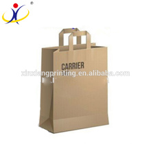 Luxury single wine carry bag,paper carry bags 26 + 13.5 x 32 + 4cm