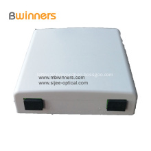 2 Ports Mini Fiber Optic Faceplate