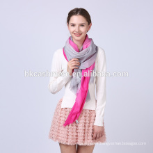 Alibaba express new model knit rose red and gray soft 100% wool scarves