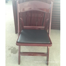 Mahogany Padded Garden Plastic Chair for Outdoor Events