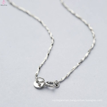 Hand Made Types Of 925 Sterling Silver Necklace Chains