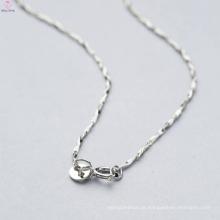 Tipos feitos à mão de 925 correntes da colar da prata esterlina