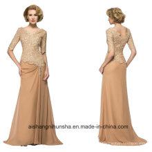 Women Chiffon Stain Back Zipper Evening Dress Prom Dress
