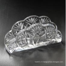 Table à manger utilisé porte-serviette en verre Crystal