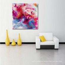 Pintura abstracta de la muchacha del retrato