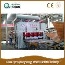 Kurze Zyklus Melamin mdf Pressmaschine / hydraulische Heißpresse YX2000T- 1220x2440mm Laminierung