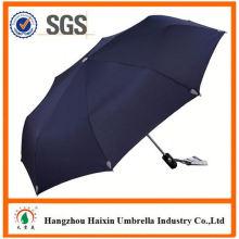 Prix pas chers! Approvisionnement d'usine pliage parapluie avec boîtier avec poignée Crooked