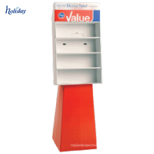 Présentoir fait sur commande de tasse de vide de position de carton d'étagère, présentoir de bouteille de carton, support d'affichage de tasse