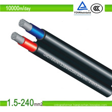 PV1-F 10mm2 DC Solar Cable TUV/UL Approved Solar PV Cable