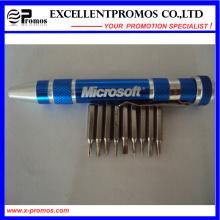 Bolígrafo de aluminio de la herramienta del destornillador del bolsillo de la promoción (EP-TS8124)