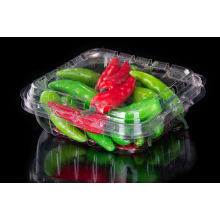 Disposable plastic fresh vegetable box with lid