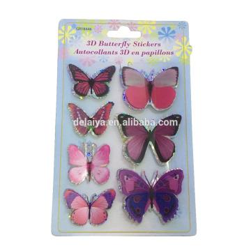 O estilo da etiqueta da parede e a decoração Home usam a etiqueta feita sob encomenda do PVC da borboleta 3D