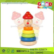 2015 Mais novo jogo de palhaço de pilha, brinquedos de palhaço de madeira, brinquedo empilhável de crianças