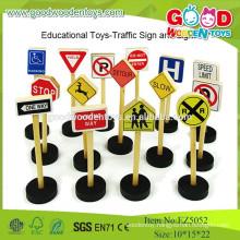 2015 Newset Mini Traffic Set Wooden Road Sign Kids Educational Set Toys