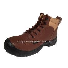 Plein de boucles en plastique et daim doublure chaussure de sécurité (HQ03056)