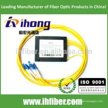 FBT 1 * 4 divisor de fibra óptica fundido Conectores LC