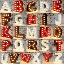 3D Decoration Bulb Light English Letters