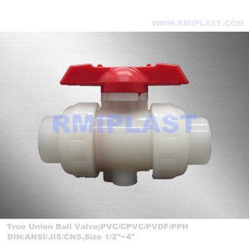 PVDF True Union Ball Valve Socket Fusion