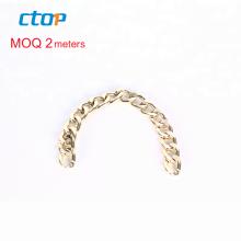 Wholesale high quality design custom fashion design gold decorative purse chain metal chains bag chain