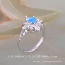 Bague en argent sterling à la mode luxueuse opale australienne 925 pour cadeau