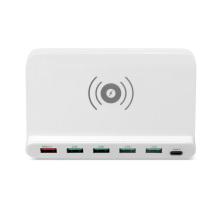 Chargeur sans fil multi-stations de recharge USB 60 watts