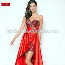 short length back long sexy evening dress strapless sleeveless eveing dress
