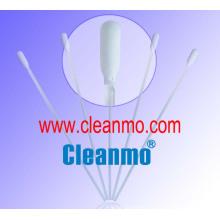 Pointe en polyester tricotée en forme de spatule en coton pour salle blanche avec poignée en polypropylène non stérile