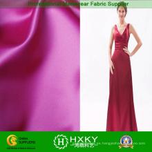 Tela de vestido largo liso brillante satinado suave
