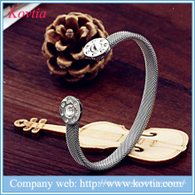 Nouveaux produits bracelet en maille en titane en acier inoxydable