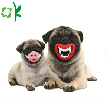 Lovely silikon Pink-Pig Chew Waterproof Pet Toy Dog