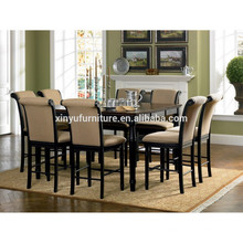 Newest wooden square dining table set for 8 person XYN1484