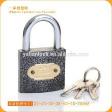 Hot Sale Product short hardened steel shackle plastic painted iron padlock
