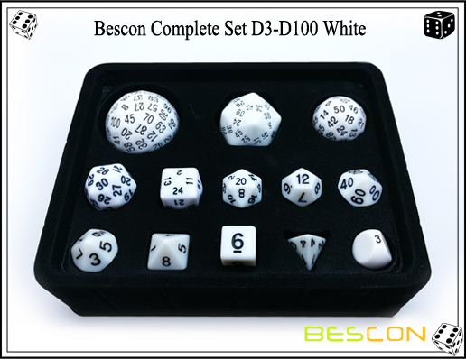Complete Dice Set D3-D100 (4)