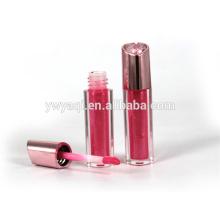 OEM produits chauds Chine mode impression logo argent lumière vers le haut brillant à lèvres avec bouchon de placage UV