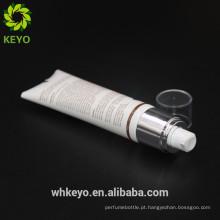 novo design creme de embalagem recipiente cosmético plástico macio tubo aieless bomba tubo